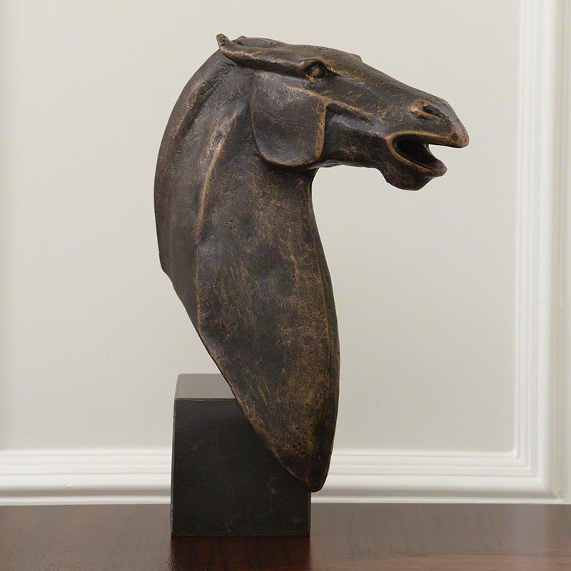Corner Stallion Sculpture - 8.82000