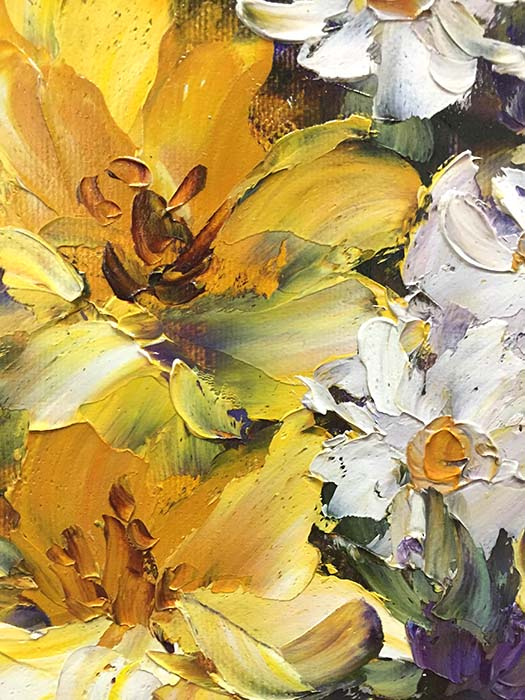 Daisies and Daffodils by Jamie Lisa, Detail 2
