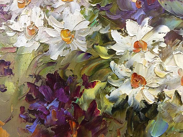 Daisies and Daffodils by Jamie Lisa, Detail 1