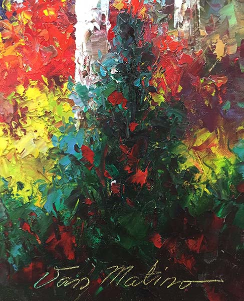 Dance of Color by Van Matino, Signature