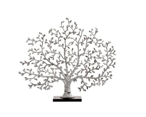 Tree of Life Decorative Fireplace Screen in Nickelplate