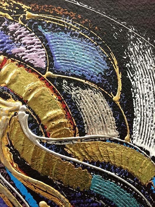 Demure Spirit by Martiros Manoukian, Texture