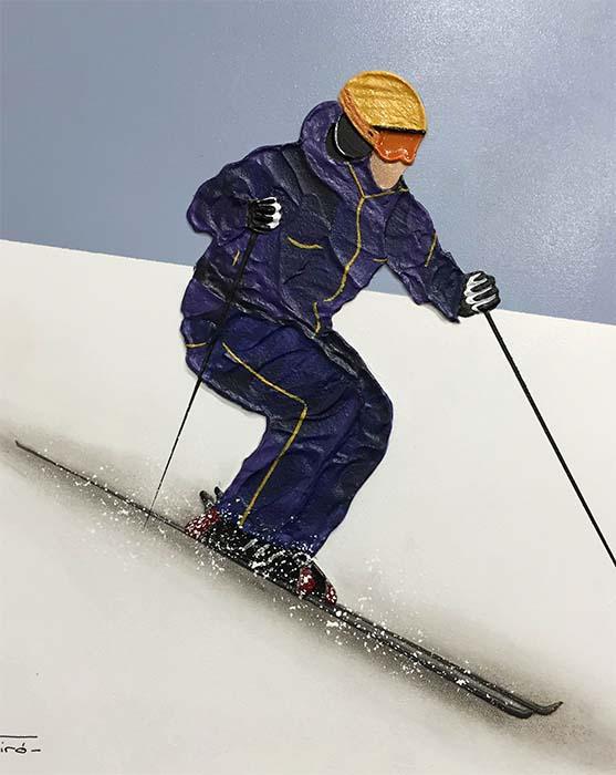 Alpine Skier I by Nuria Miro, Detai