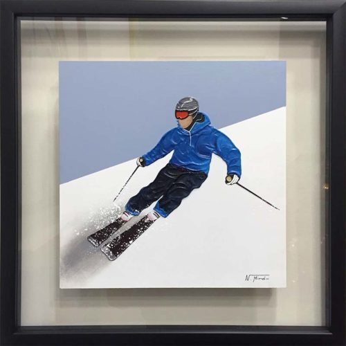 Alpine Skier II by Nuria Miro, Overview
