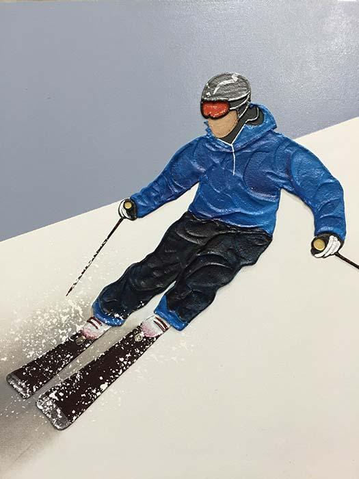 Alpine Skier II by Nuria Miro, Detail