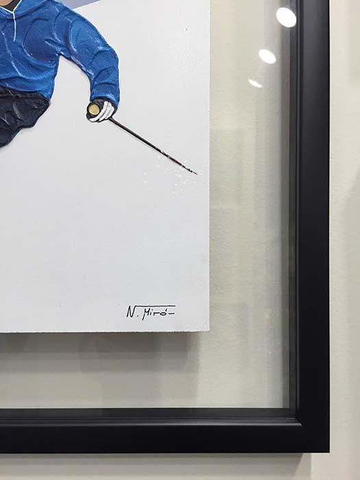 Alpine Skier II by Nuria Miro, Signature
