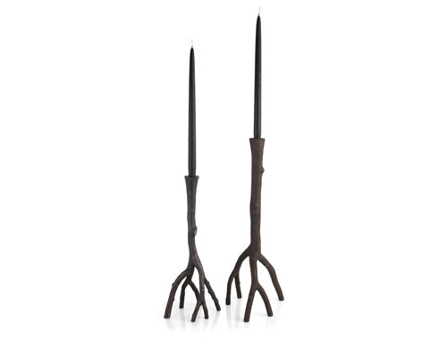 Oxidized Enchanted Forest Candleholders