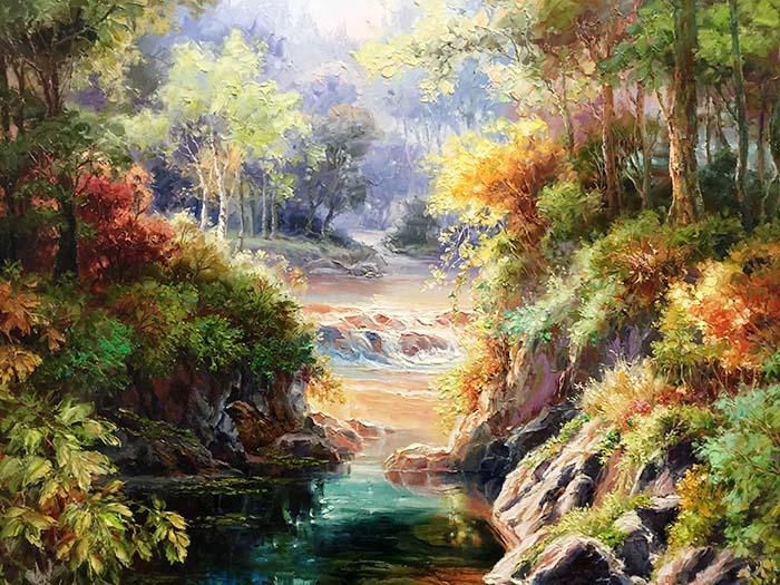 Enchanted River II by Dae Chun Kim