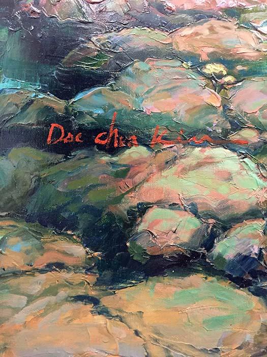 Enchanted River II by Dae Chun Kim, Signature