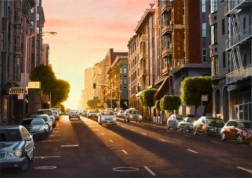 Evening in San Francisco by Alexander Volkov
