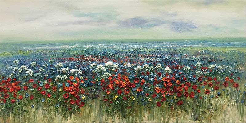 Field of Flowers by Evans, Overview