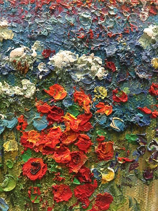 Field of Flowers by Evans, Detail