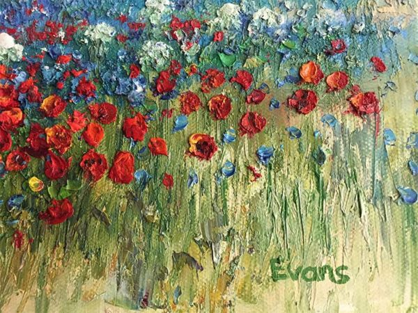 Field of Flowers by Evans, Signature
