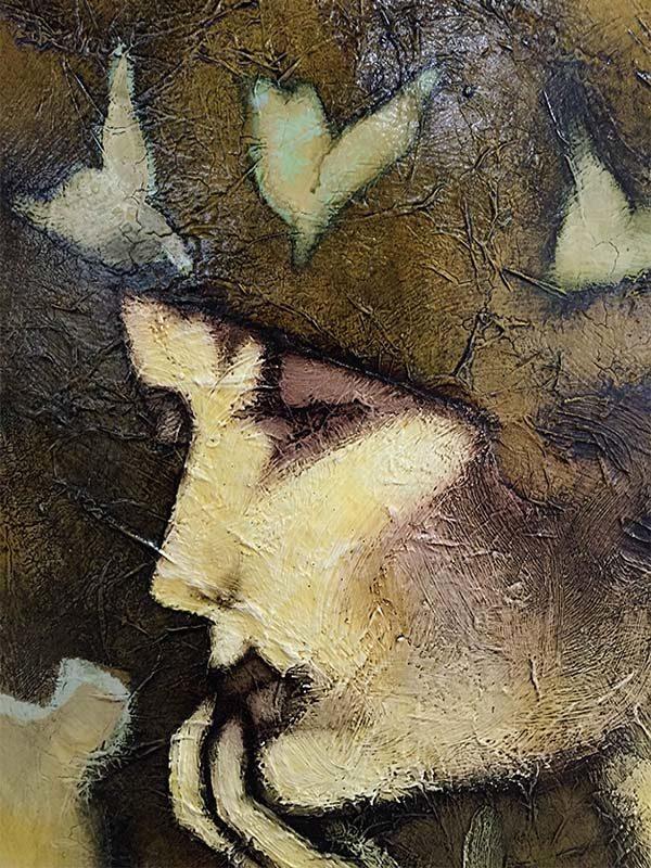 Figure Study III by David Martin, Detail