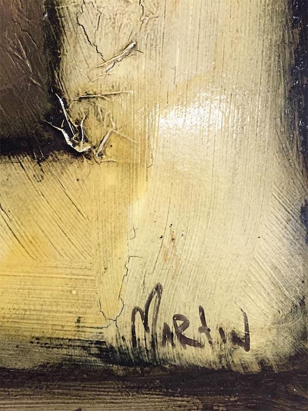 Figure Study IV by David Martin, Signature