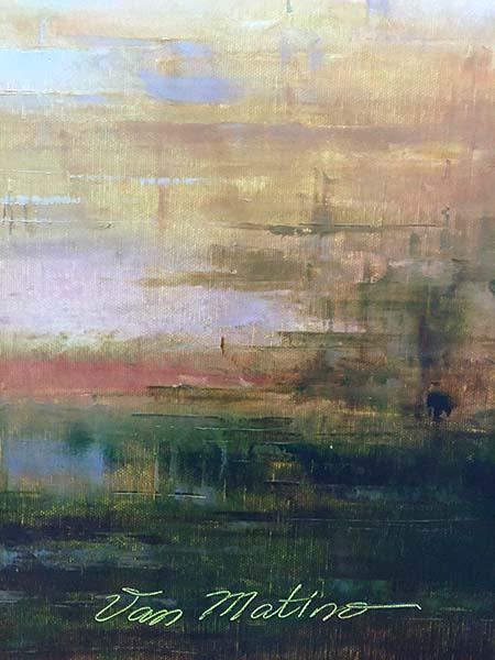 First Sail by Van Matino, Signature