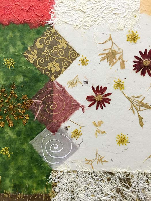 Floral Collage I by K. Paul, Detail
