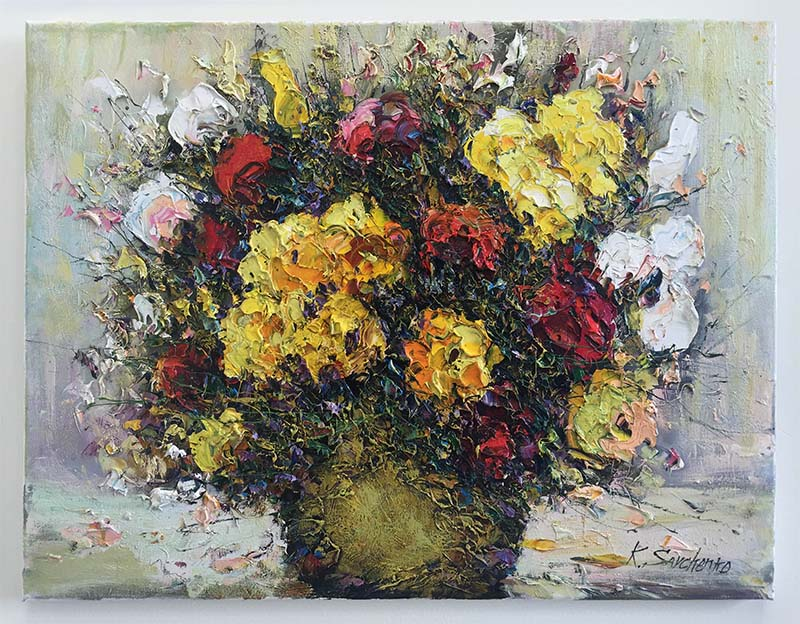 Red and Yellow Flowers by Kostantin Savchenko, Overview