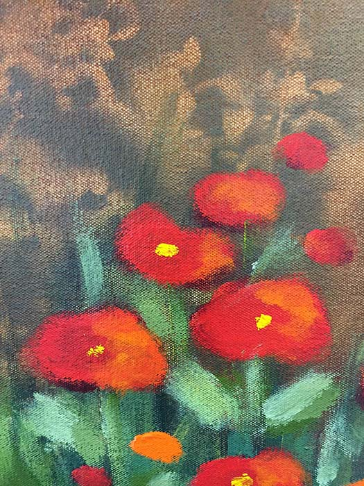 Flowers in the Mist by Lun Tse, Detail