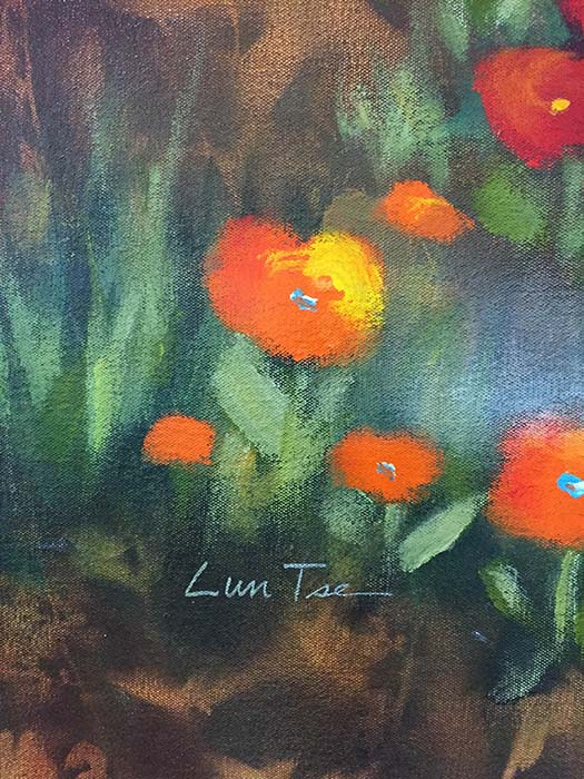 Flowers in the Mist by Lun Tse, Signature