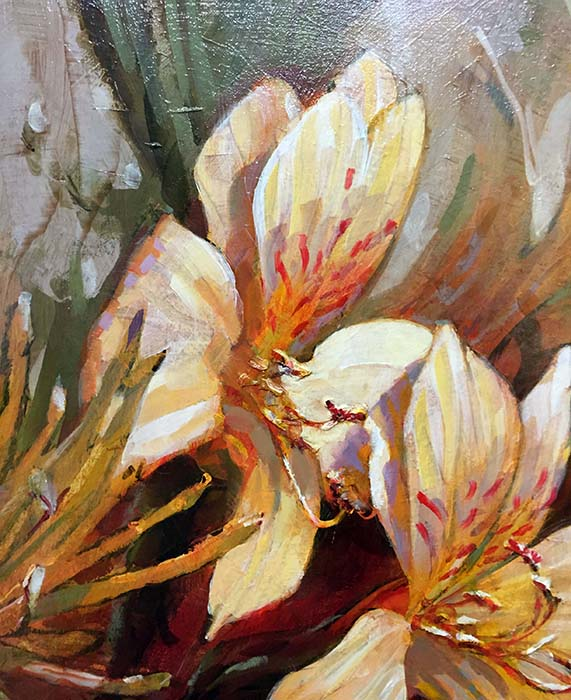 Foggy Flowers by Leland Beaman, Detail