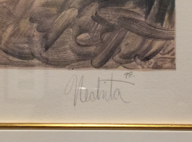Forever Happy by Alexandra Nechita, Signature
