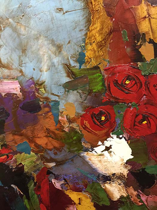 Red Rose Bouquet by Franklin, Detail