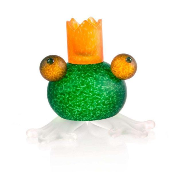 Frosch/Frog Candleholder: 24-01-58 in Green