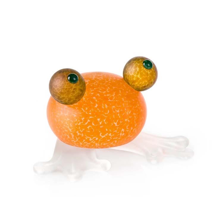 Frosch/Frog Paperweight: 24-01-55 in Orange