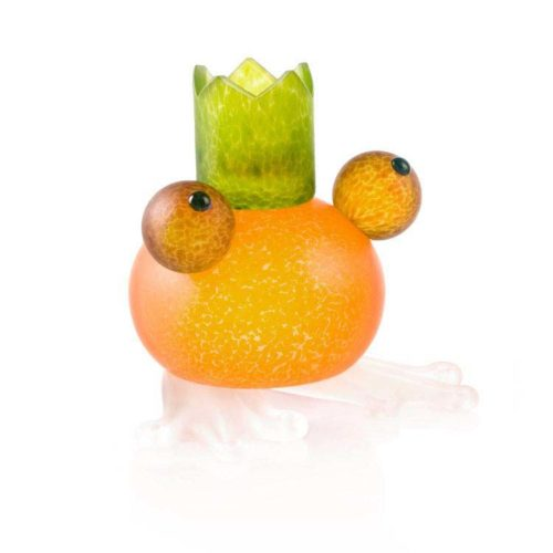 Frosch/Frog Candleholder: 24-01-59 in Orange