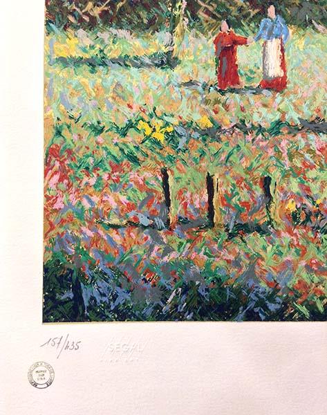 H. Claude Pissarro - Garden of Yves St. Laurent, Edition Number