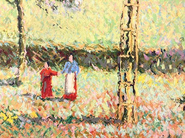 H. Claude Pissarro - Garden of Yves St. Laurent, Detail