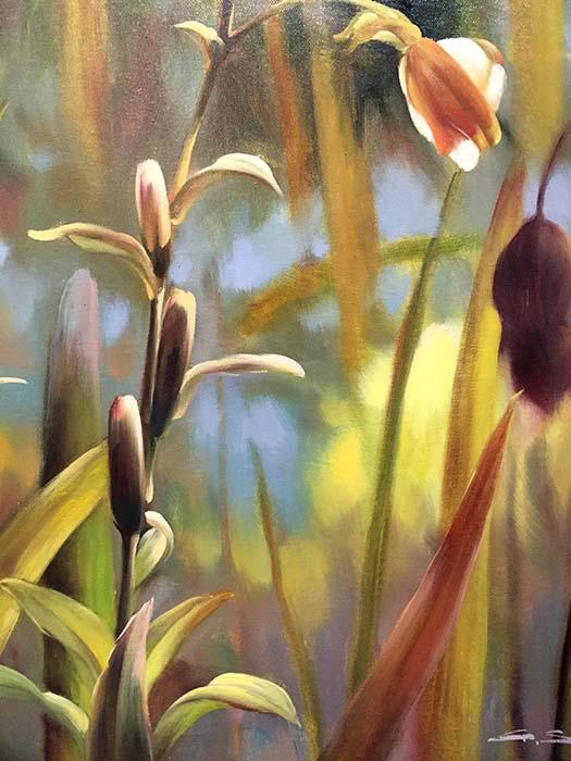 Garden Splendor I by G. Salman, Detail