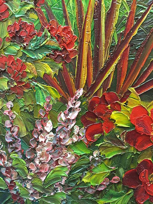 Garden Tapestry by Evans, Detail