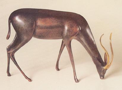 Gazelle - Loet Vanderveen Bronze Sculpture