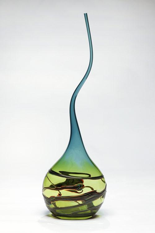 Gocci Vessel in Lime & Steel Blue