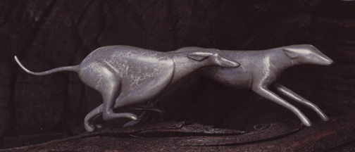 Greyhounds, Running - Sculpture #303