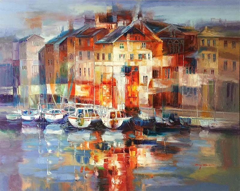 Harbor at Morning Light by Sung Min Kim, Overview