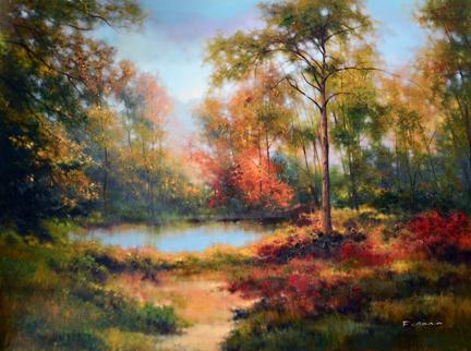 Hidden Pond by F. Cono