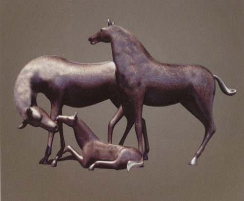 Horse, Large Family - Sculpture #390