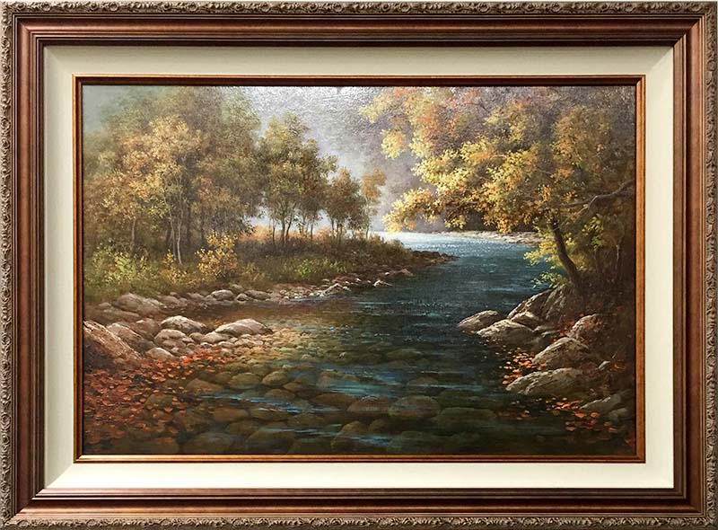 Illuminated River by Humphrey, Framed