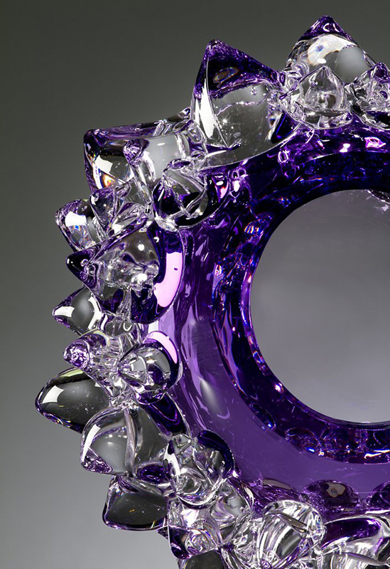 Amethyst Star & Stone by Andrew Madvin, Detail