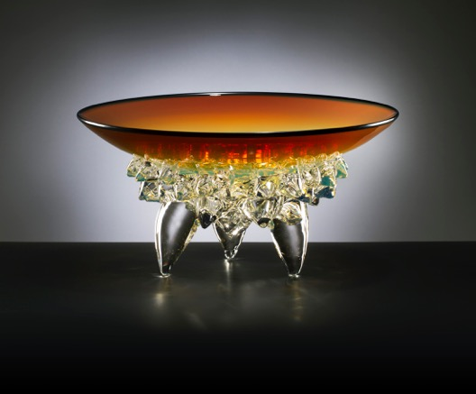 Amber Low Thorn Bowl by Andrew Madvin