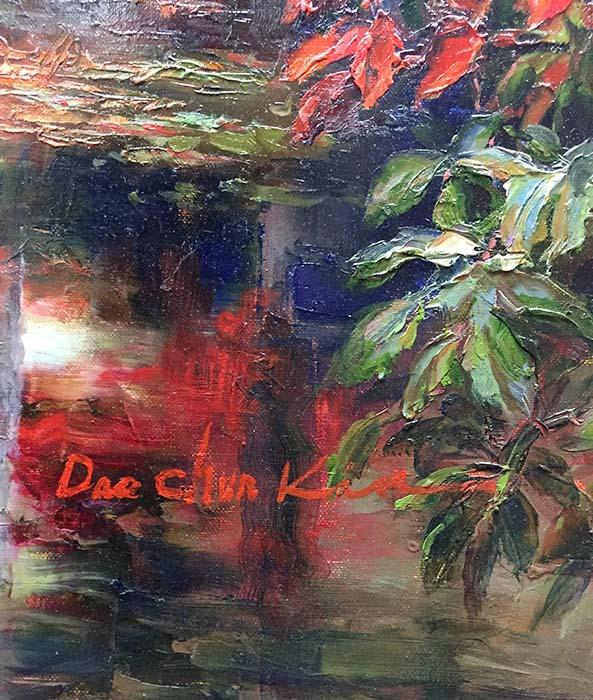 Jewel River by Dae Chun Kim, Signature