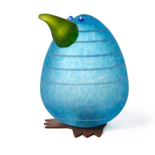 Kiwi Egg Paperweight: 24-02-92 in Blue