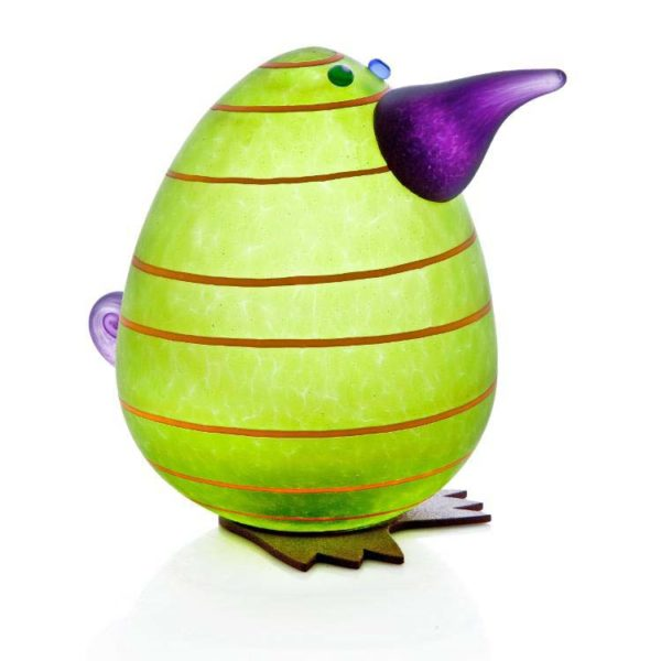 Kiwi Egg Paperweight: 24-02-94 in Lime Green