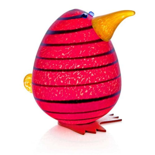 Kiwi Egg Paperweight: 24-02-93 in Red