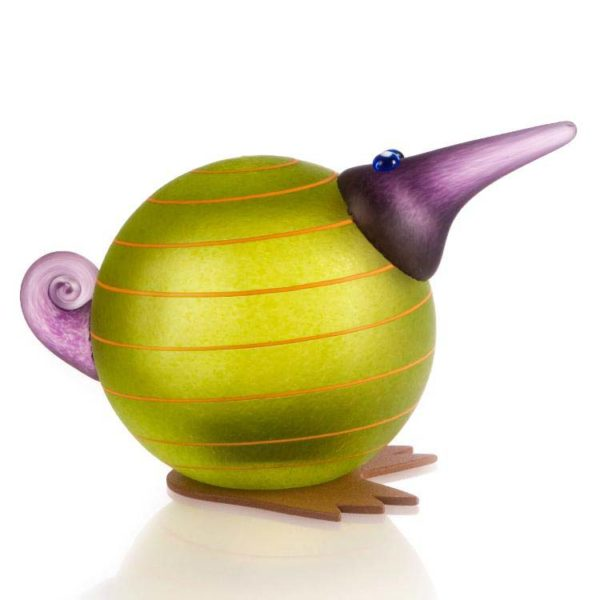Kiwi Paperweight: 24-02-45 in Lime Green