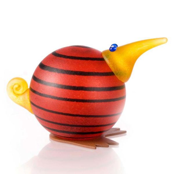 Kiwi Paperweight: 24-02-43 in Red