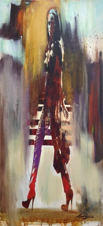 Le Donne I - Original Oil Painting, View 1